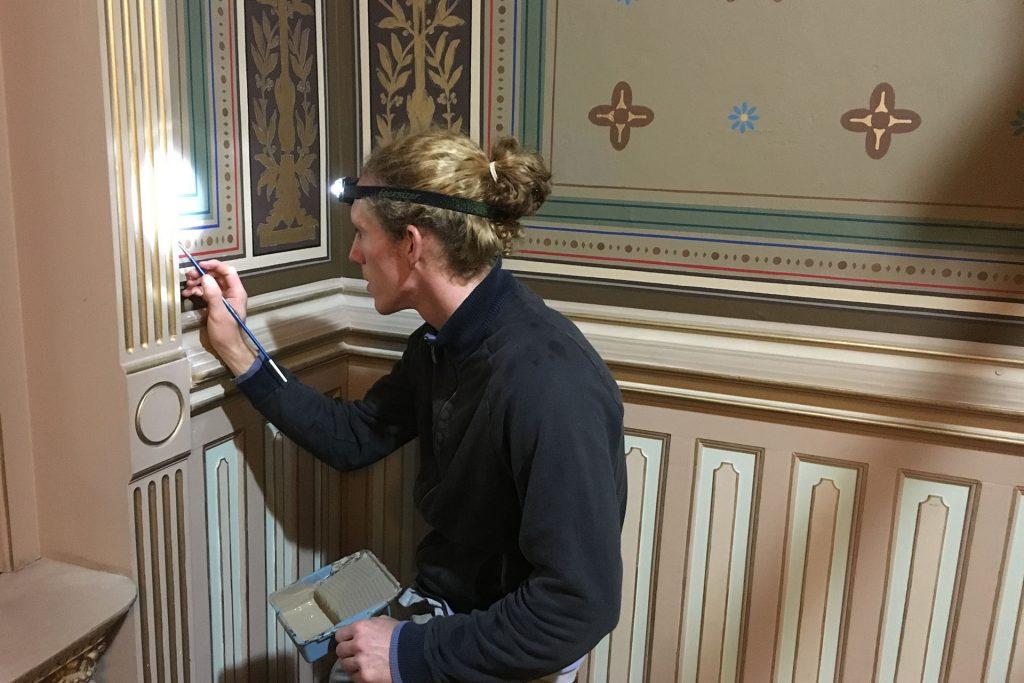 Restauraciones de los interiores de la Sala Principal por Jason Benitez